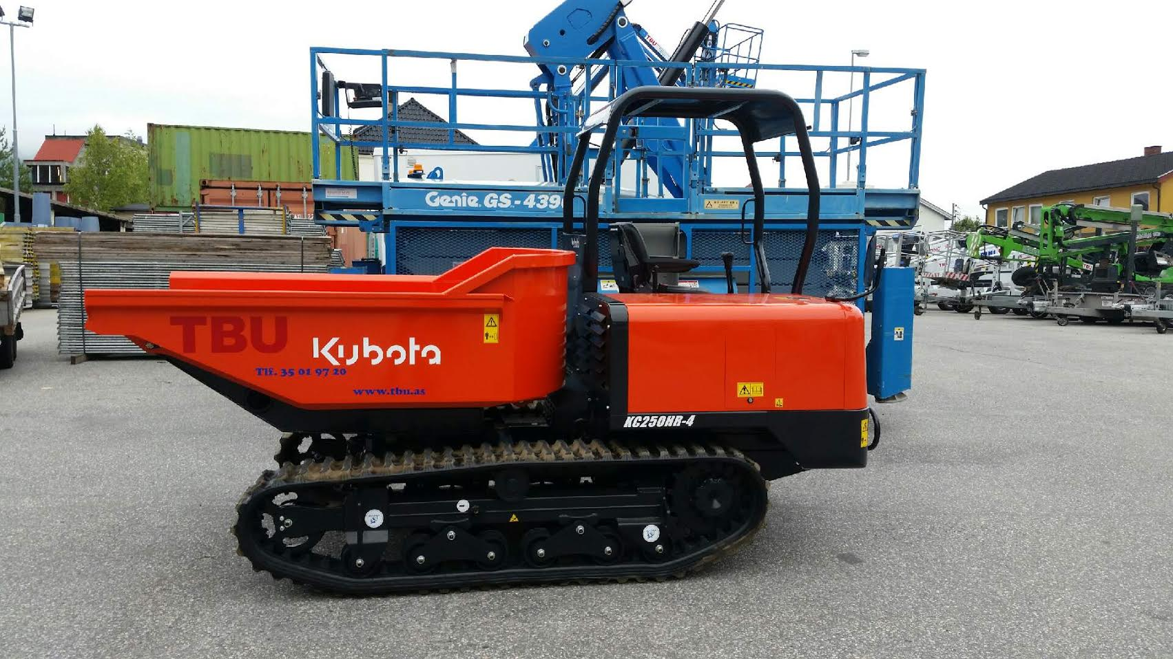 Kubota minidumper 2500 kg dumper